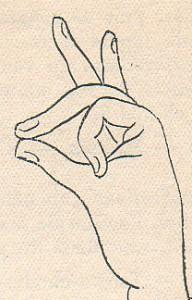Бхрамара - мудра для развития интуиции